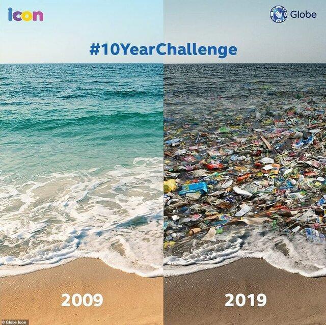 تخریب محیط زیست و بطری پلاستیکی که تکان نخورد
