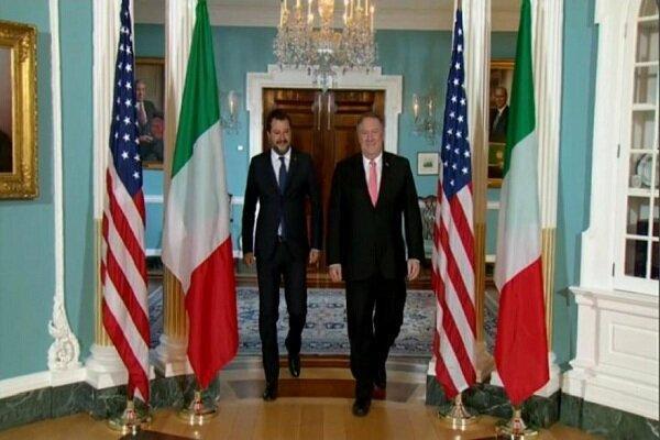 سالوینی و پمپئو دیدار کردند، حمایت از مذاکره بامسکوو انتقاد از پکن