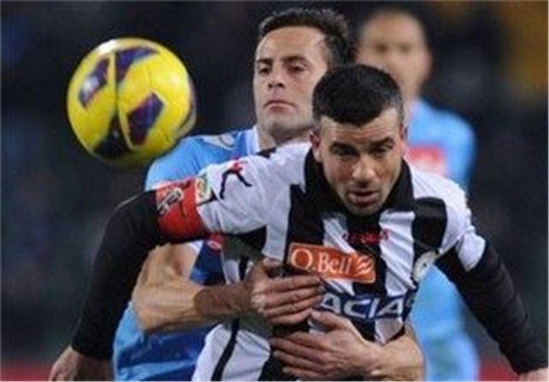 توقف ناپولی در خانه اودینزه، لاتزیو از تیم های میلانی سبقت گرفت