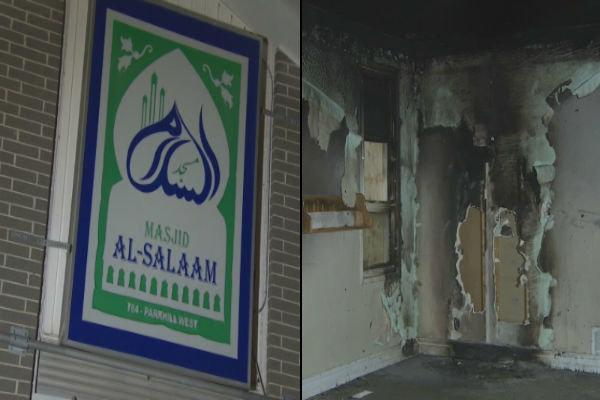 آتش زدن یک مسجد در کانادا