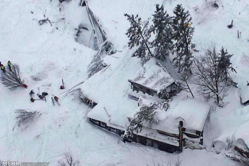 هتل ریگوپیانوی ایتالیا زیر بهمن رفت