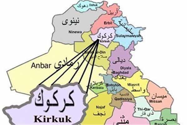 اصابت 8 خمپاره به پایگاهی نظامی در کرکوک