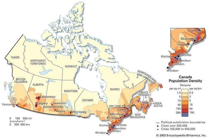تنوع جمعیتی مردم کانادا