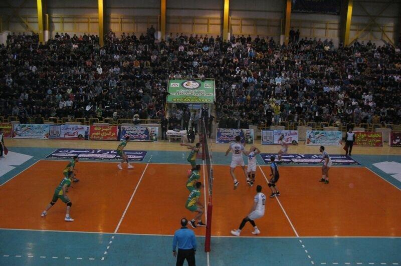 بُرد شیرین شهرداری گنبدکاووس مقابل صدرنشین لیگ برتر والیبال