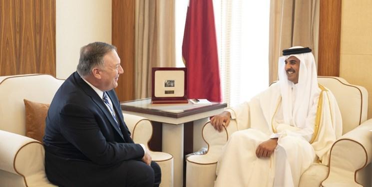 ملاقات وزیر خارجه آمریکا با امیر قطر