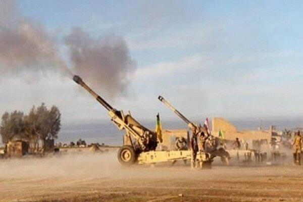 ارتش عراق مواضع تکفیری ها را هدف حملات توپخانه ای قرار داد