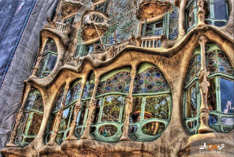 ساختمان کازا باتیو؛ نبوغ معماری در بارسلونا، عکس
