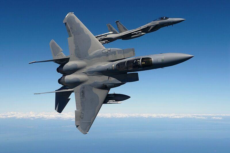 هواپیمای اف 15 آمریکا در شمال انگلیس سقوط کرد