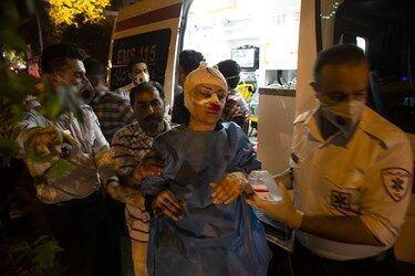 خبرنگاران مصدومان آتش سوزی در شمال تهران 14 نفر شدند