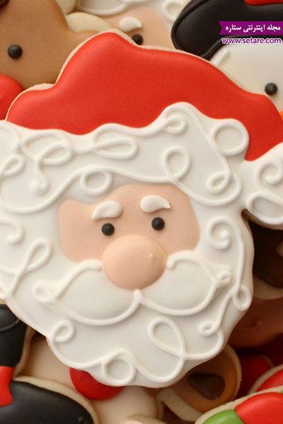 آموزش تزیین بیسکوییت کریسمس به شکل بابانوئل