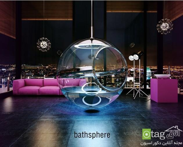 مدل وان حمام جدید کروی شکل با طراحی بسیار عجیب و خلاقانه