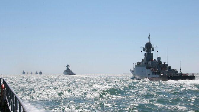 روسیه در دریای خزر رزمایش برگزار کرد