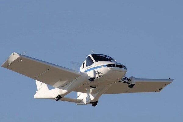 پرواز خودروی پرنده با بال های تاشو