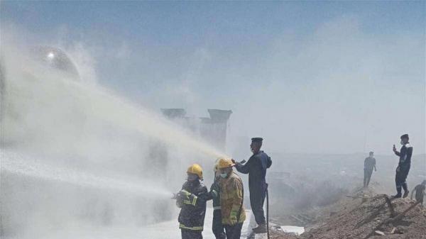 خبرنگاران وقوع دو آتش سوزی در بغداد